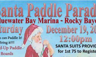 bluewater bay marina niceville santa paddle board parade 2020