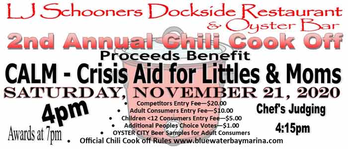2020 chili cook off lj schooners niceville bluewater bay
