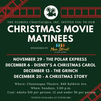 christmas movies,defuniak springs chautauqua theatre