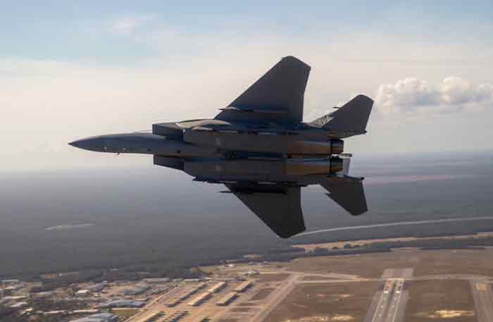 eglin air force base F-15EX in flight