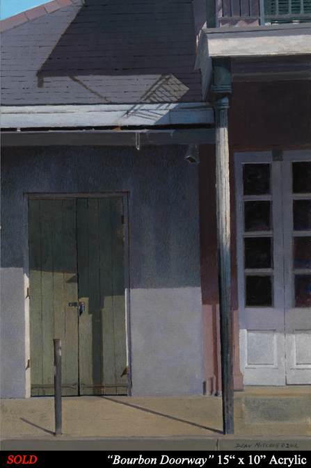"Bourbon Doorway 15"" x 10"" Acrylic"