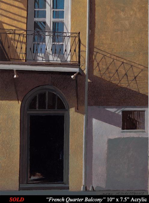 """French Quarter Balcony 10"""" x 7 1/2"""" Acrylic"""