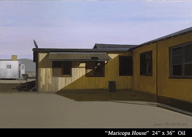 """Maricopa House 24"""" x 36"""" oil"""
