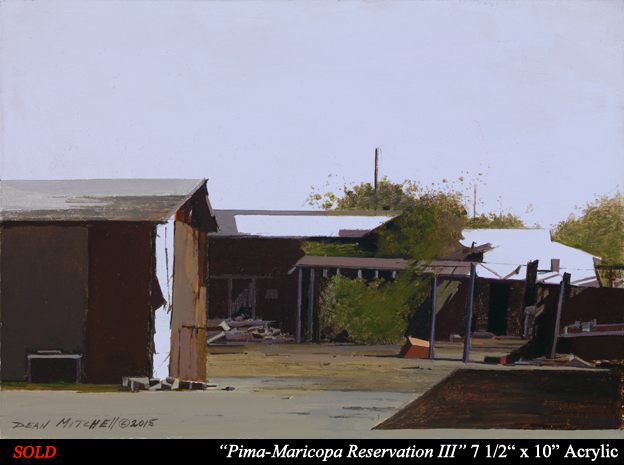 "Pima Maricopa Reservation III 7 1/2"" x 10"" Acrylic"