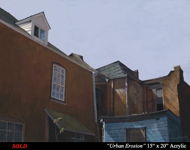 "Urban Erosion 15"" x 20"" Acrylic"