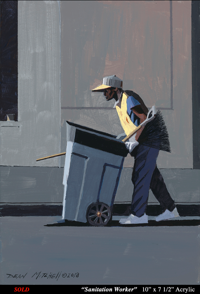 Sanitation Worker 10 x 7 1/2  Acrylic