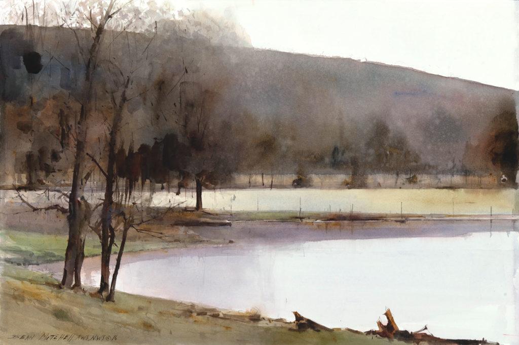 "Farmland-Pond  20"" x 30""   Watercolor"