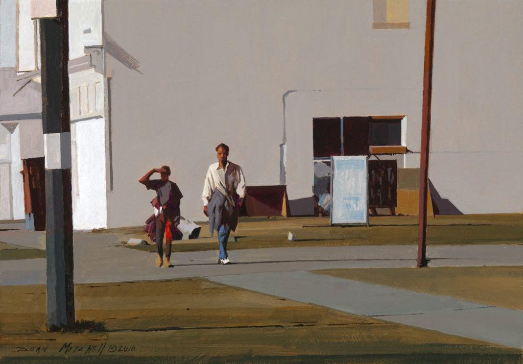 "Urban America 11"" x 16"" acrylic"