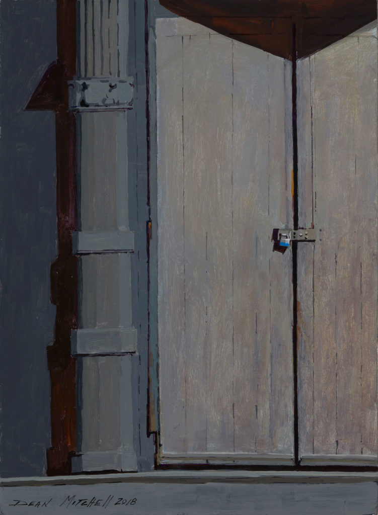 "Warehouse Door 15"" x 11"" acrylic"