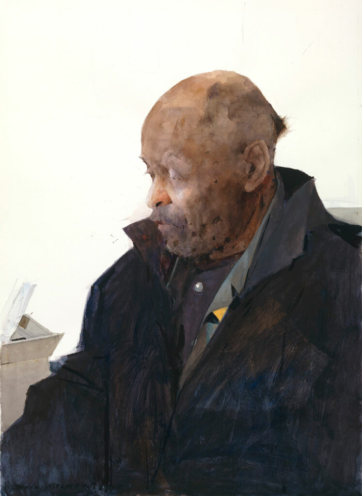 "Bob Ragland 30"" x 22"" watercolor"