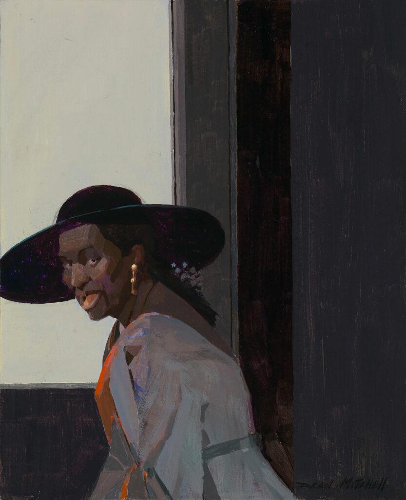"""Harlem Lady 10"""" x 8.25"""" acrylic"""