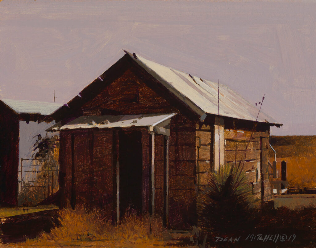 "Shotgun House 5.25"" x 6.87"" acrylic"