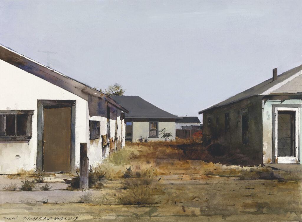 Rough Neighborhood watercolor 22 x30