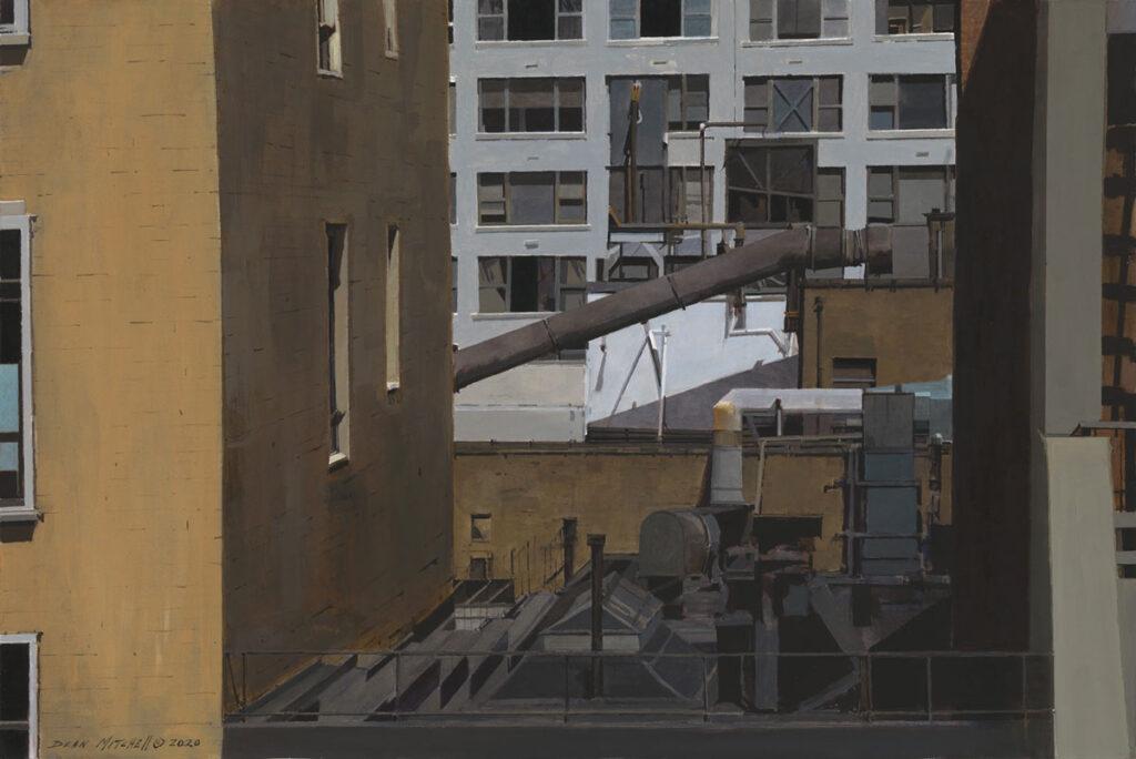 """Urban Density 22"""" x 30"""" acrylic"""