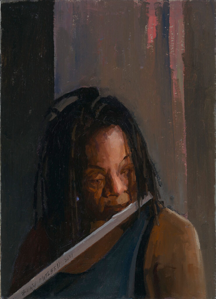 """On the Flute, oil, 14.25"""" x 10.25"""""""