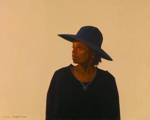 "Carolyn in Black 18"" x 24"" oil"