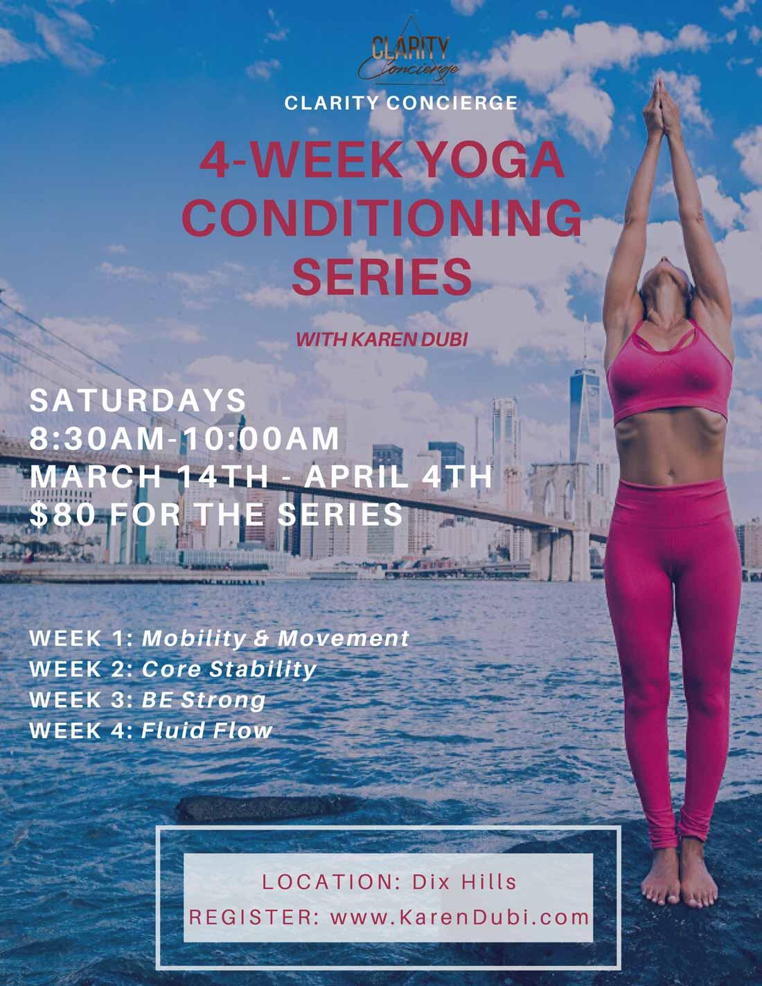 4-week Yoga Series with Karen Dubi
