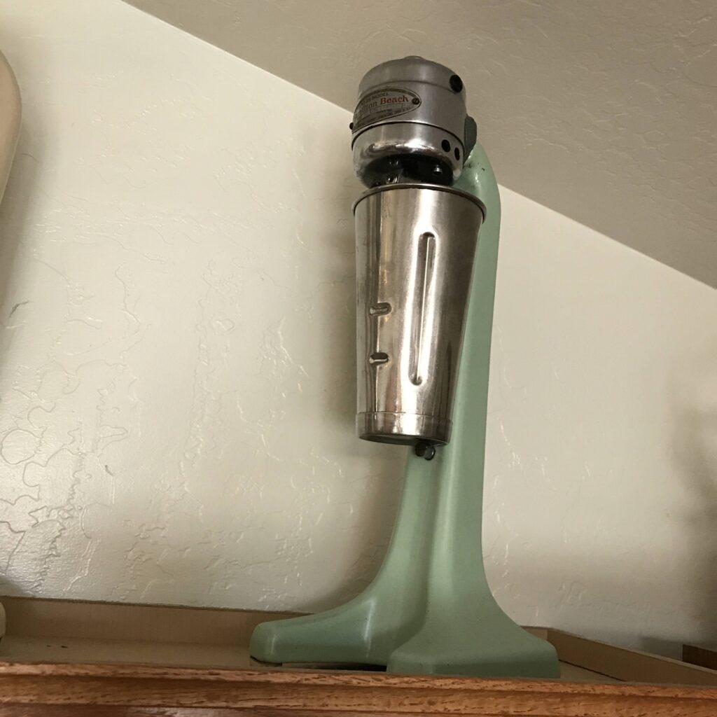 Antique Kitchen Appliances:  Mixers, Milkshare Makers