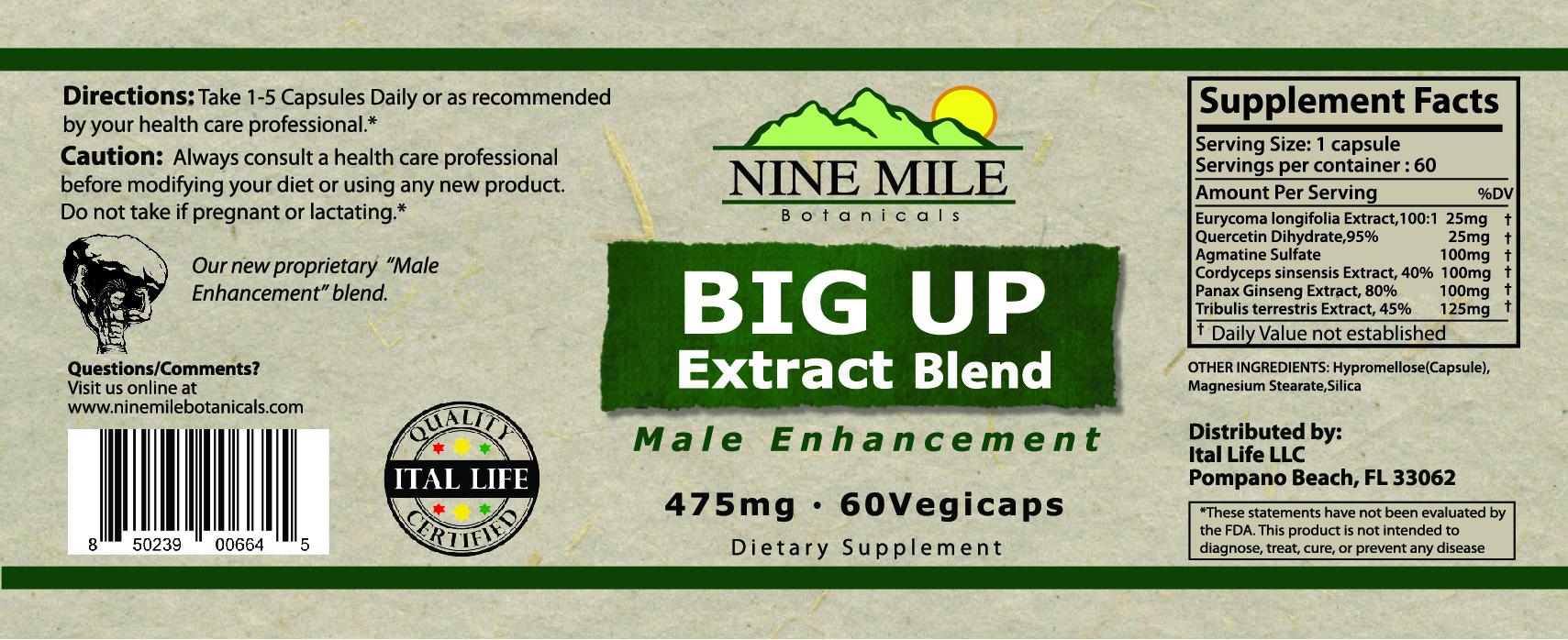 Nine Mile Botanicals Big Up Label