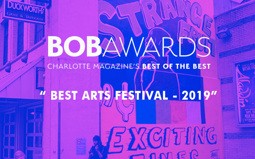 "Talking Walls Receives BOB Award from Charlotte Magazine for ""Best Art Festival"""