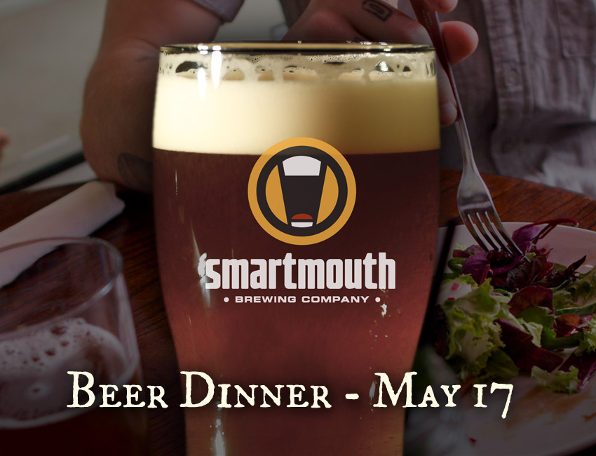 Smartmouth Beer Dinner - May 17th, 2016