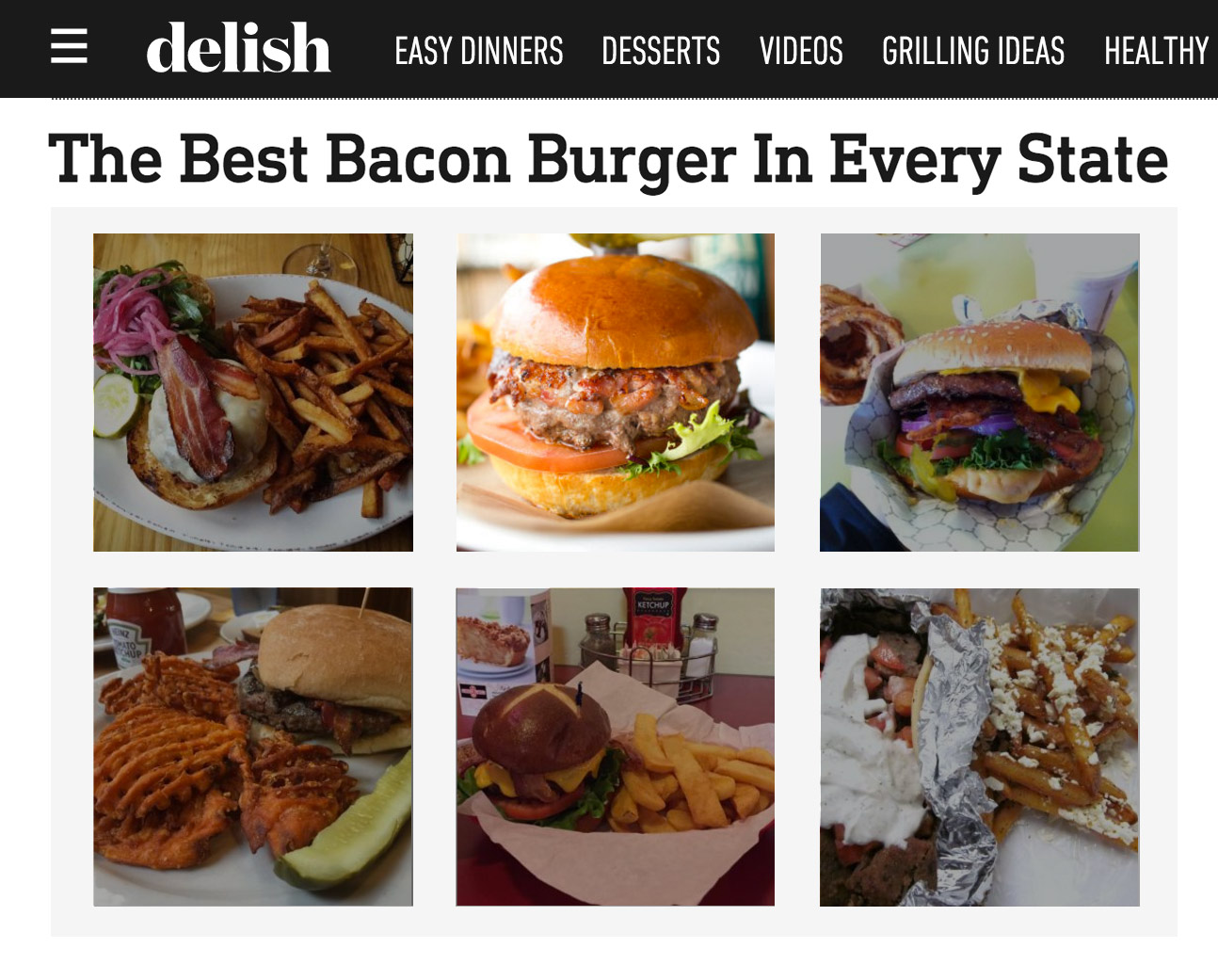 Delish.com - Best Bacon Burger in Every State