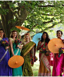WEDDINGS Bride and Bridesmaid Saris