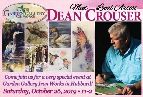 Meet local artist Dean Crouser at Garden Gallery Iron Works
