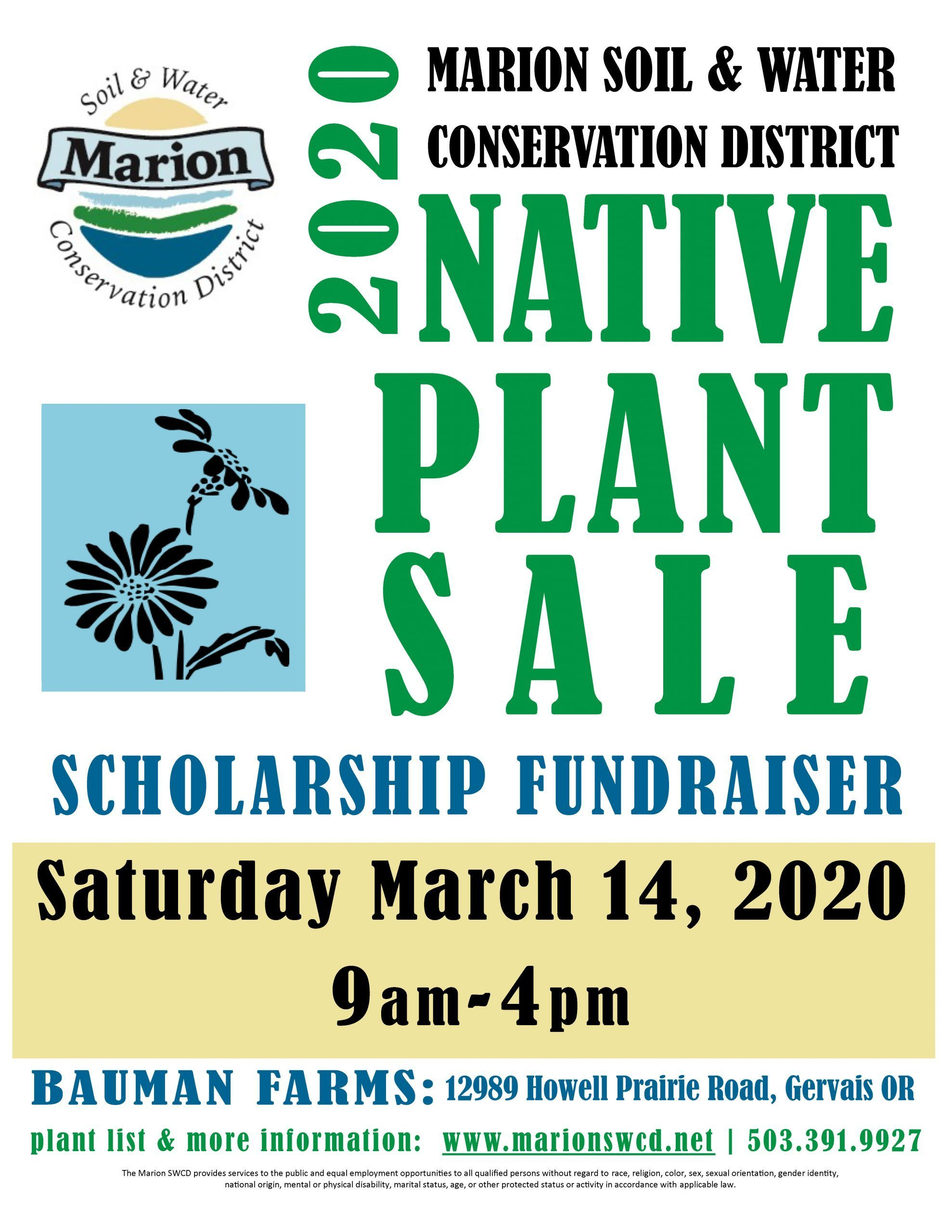 Native Plant Sale and Scholarship Fundraiser