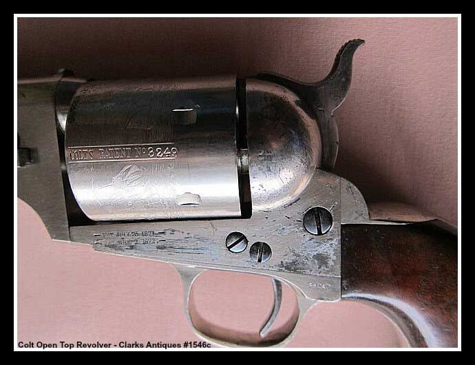Cylinder scene of Colt Open Top Revolver - Nearly Perfect