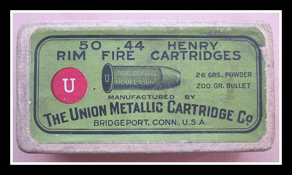 44 Henry Rim Fire Cartridges - Top Label