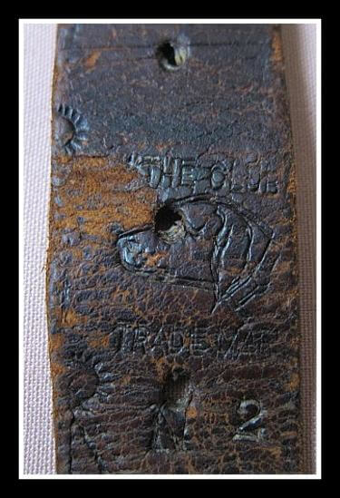 "Attractive stamp border tooling of ""Old Dog Trademark"""