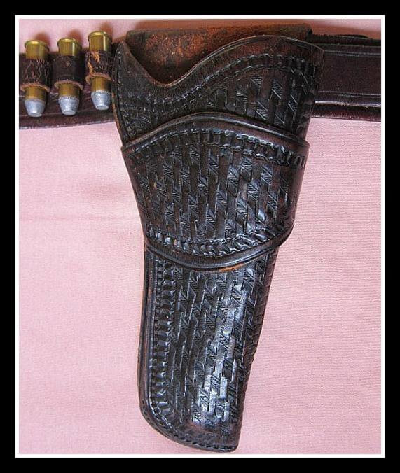 Holster close-up of Texas Ranger Style Rig