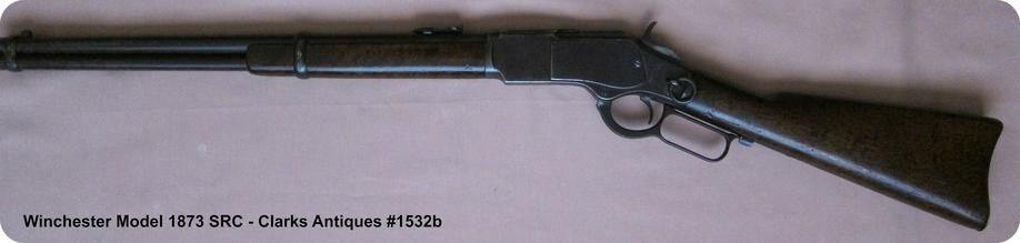 Left side view of Winchester 1873 SRC 38 WCF