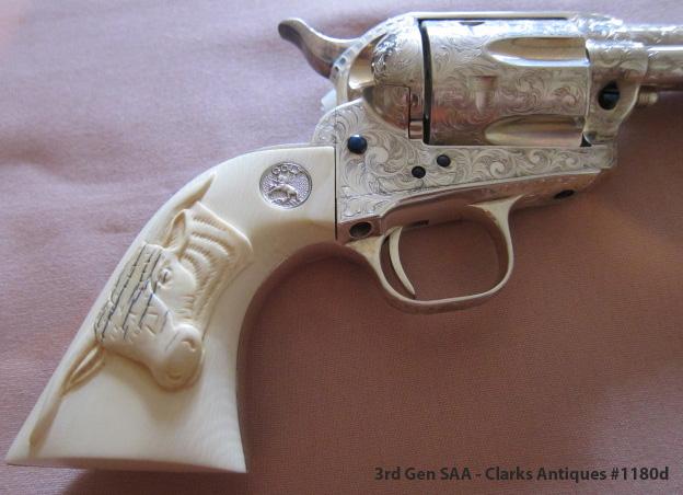 Colt SAA 3rd Gen - Ivory Ox Head Grips