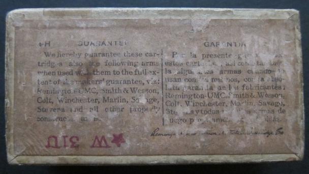 Remington UMC 44 Henry Ammo Guarantee label