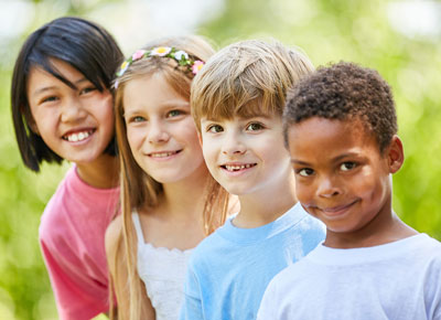 group of multicultural children