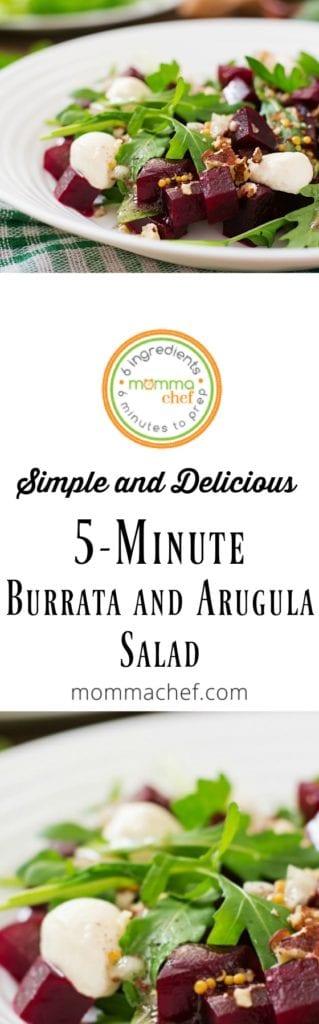 Quick and Easy Burrata and Arugula Salad