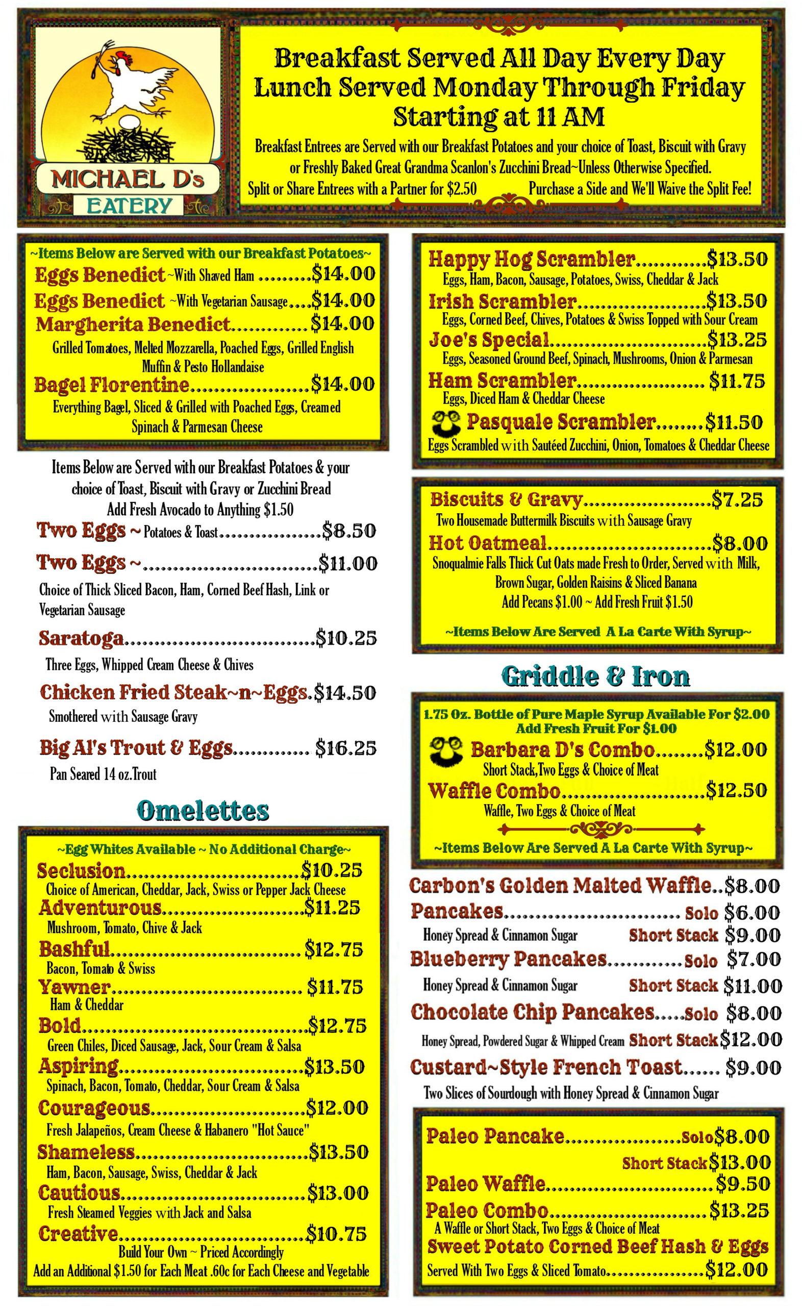breakfast menu - P1