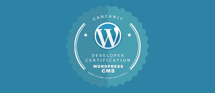 Cancanit Developer Certification Wordpress CMS Certified Professional