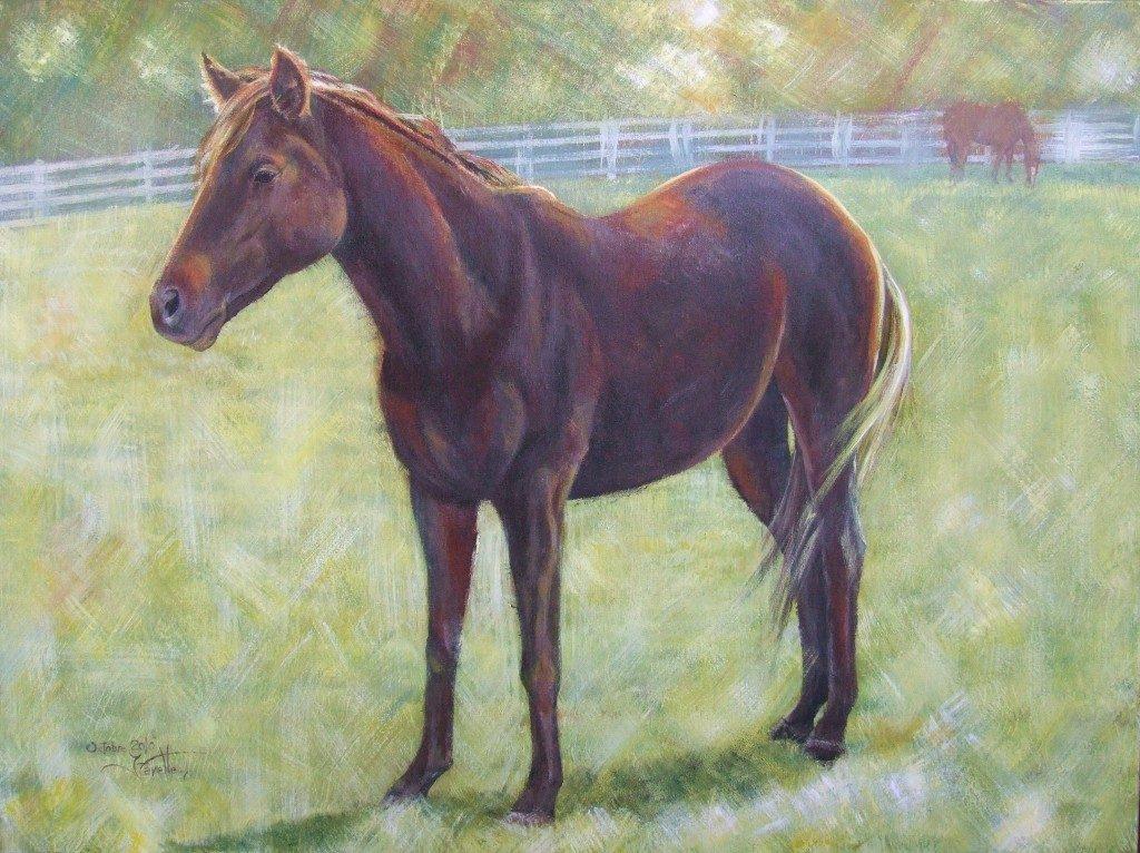 "Black mare 30""x 40"" Acrylic on canvas"