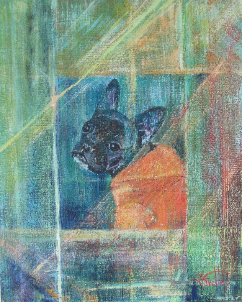 "Bijou 12"" X 8"" Acrylic on canvas"