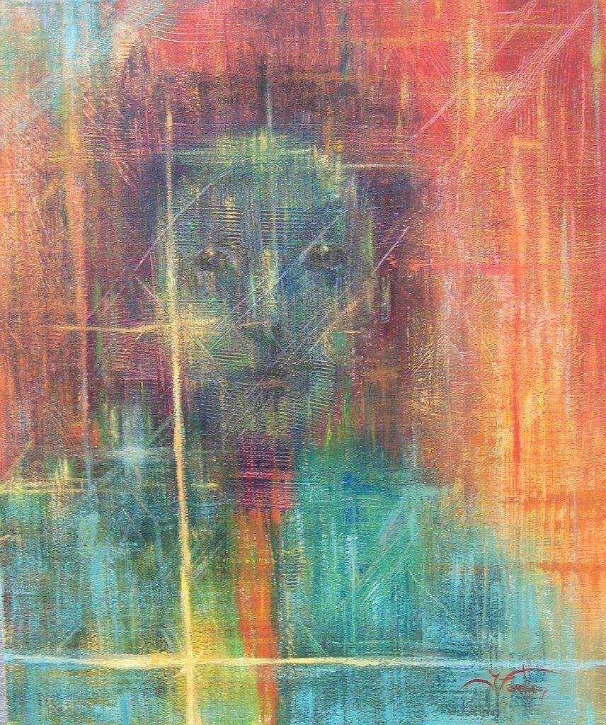 "Anger 20"" X 24"" Acrylic on canvas"