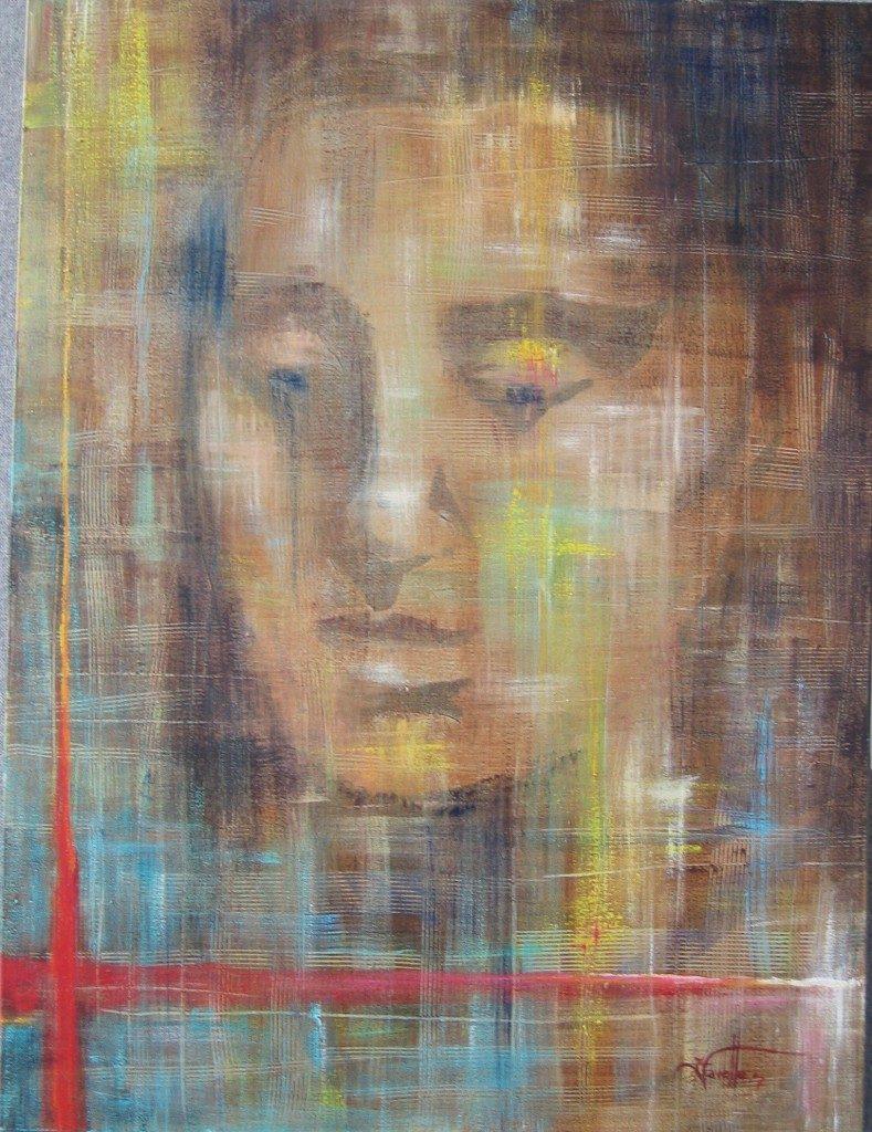 "Meditation 36"" X 24"" Acrylic on canvas"