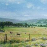 """Noaillat landscape 24"""" X 36"""" Acrylic on canvas"""