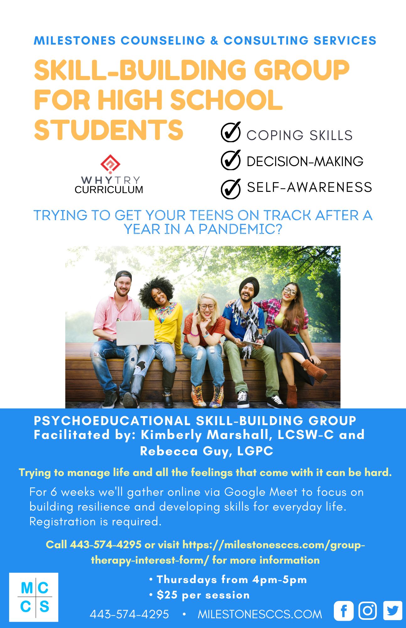 SKILL-BUILDING GROUP FOR HIGH SCHOOL STUDENTS