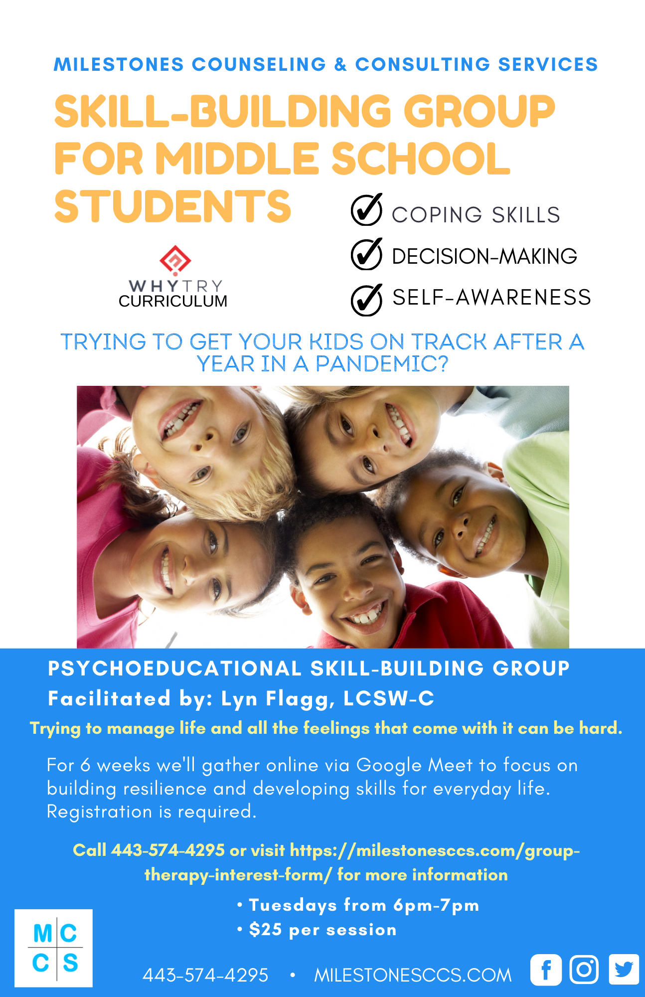 Group Therapy for Pre-Teens Middle School Aged Children