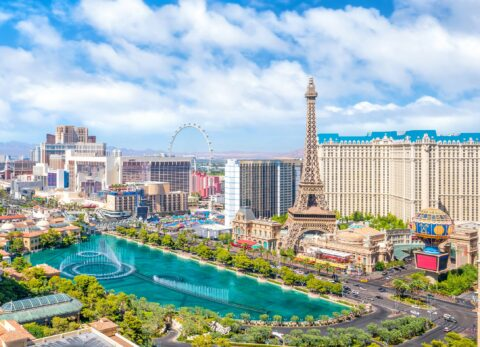 Aerial view of Las Vegas strip in Nevada - 3 Day Las Vegas with Kids Itinerary