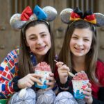 Sisters enjoy Kakigōri shaved ice treats in the Japan Pavilion of Epcot World Showcase -- this ultimate guide to all the top sweet treats, savory snacks and best beverages you can find in Epcot's World Showcase just for you.