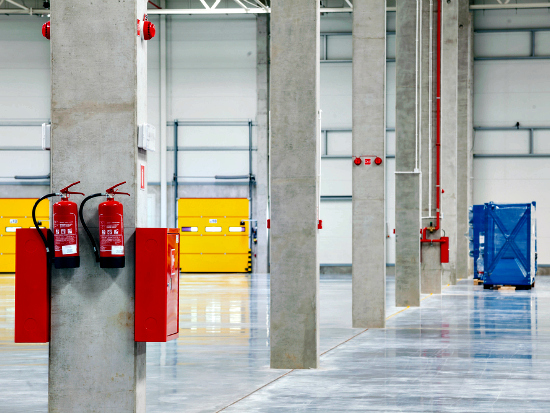 Industrial floor polishing